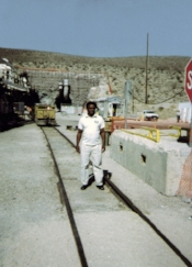 EHJ President Norris McDonald at Yucca Mountain in 2005