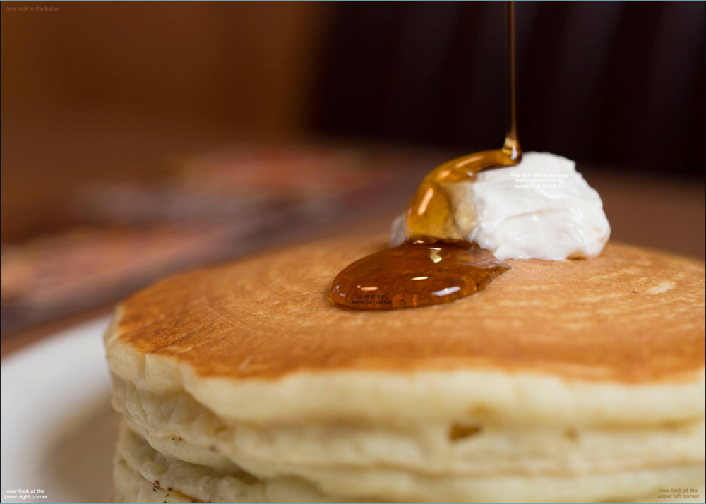 "From @DennysDiner tweet: ""zoom in on the syrup"""
