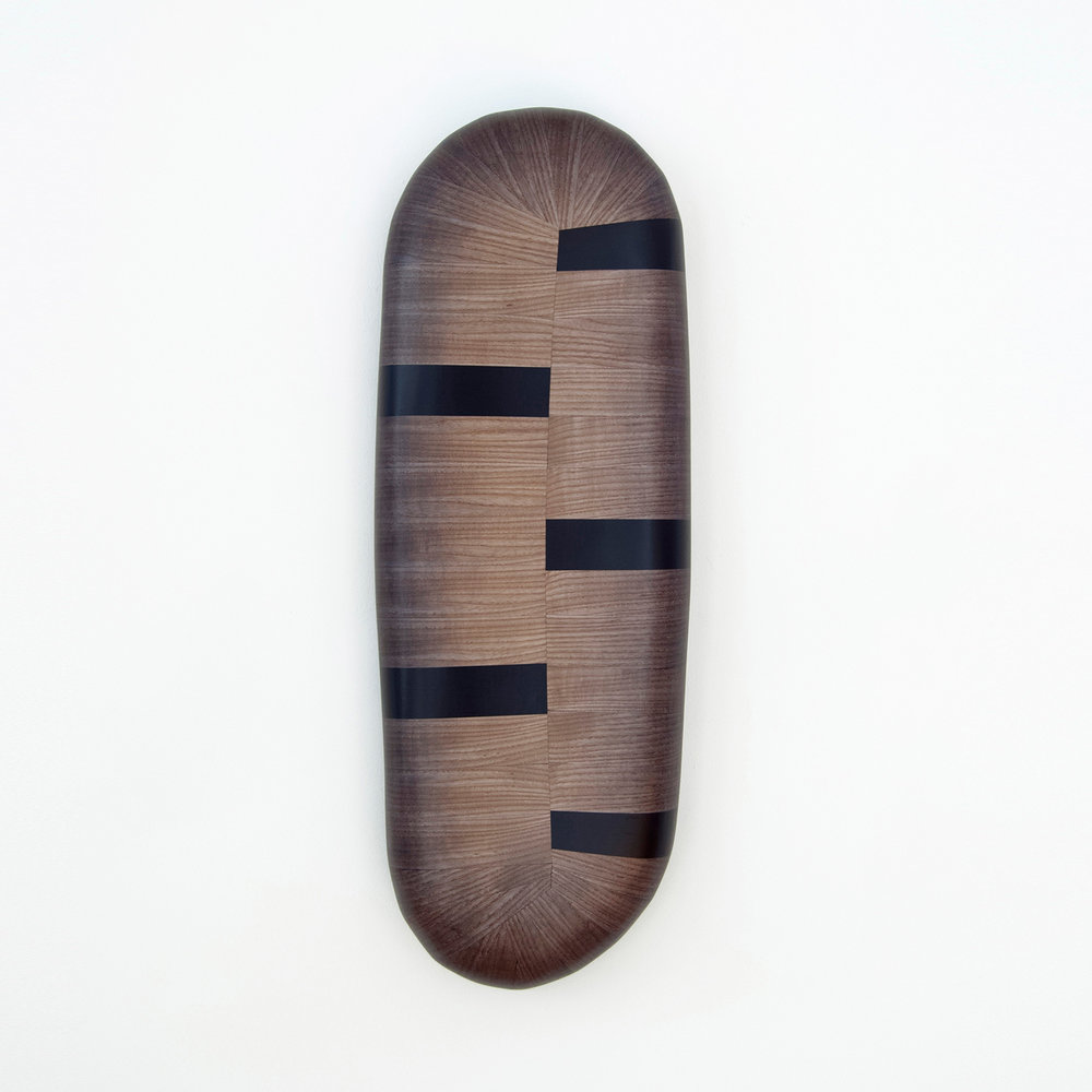 Septo  Wood, stain, paint 30 x 10 x 4 inches 76 x 24 x 10 cm 2018