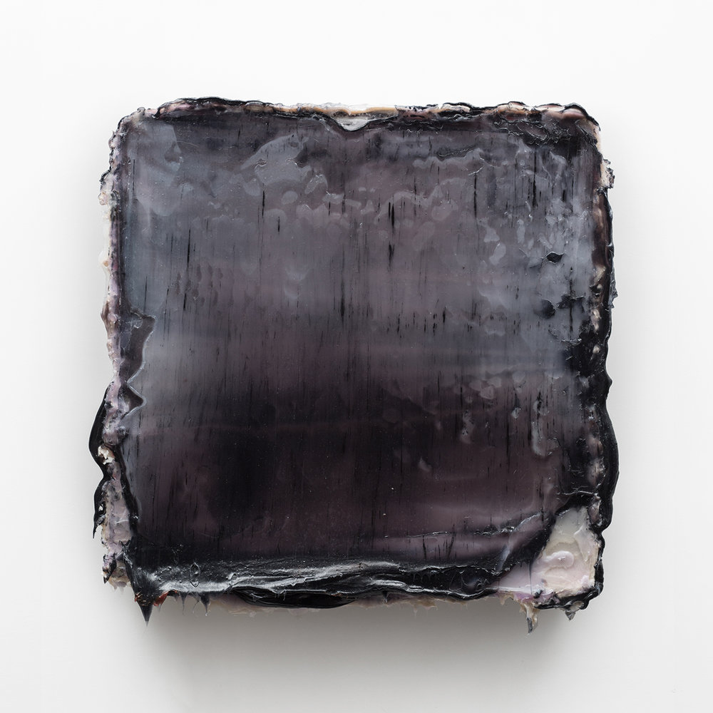 Esir  Silicone & pigments on wood panel  28 x 27 x 2 inches 70 x 69 x 5 cm  2014