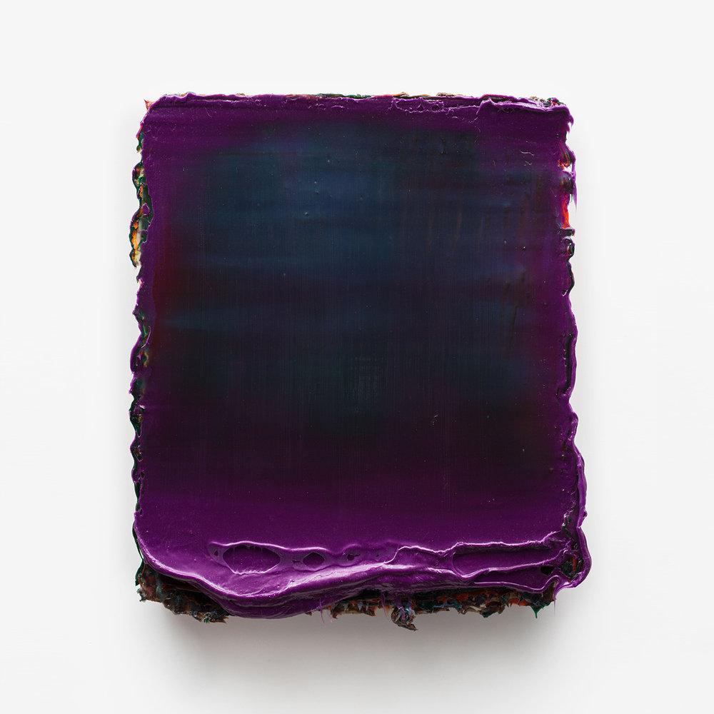 Uuesti  Silicone & pigments on honeycomb board 25 x 21 x 2 inches 64 x 54 x 5 cm 2015