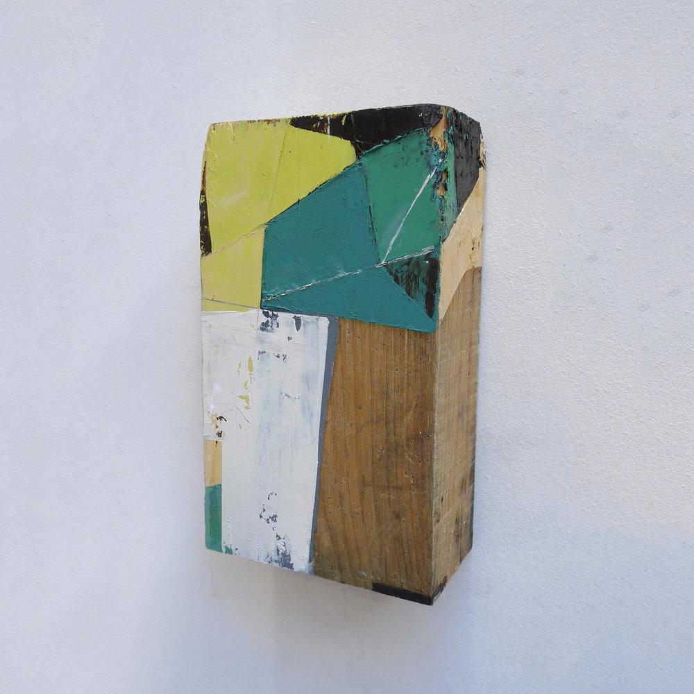 Taco 2  Oil on wood 6 x 10 x 3 inches 15 x 25 x 7.5 cm 2018
