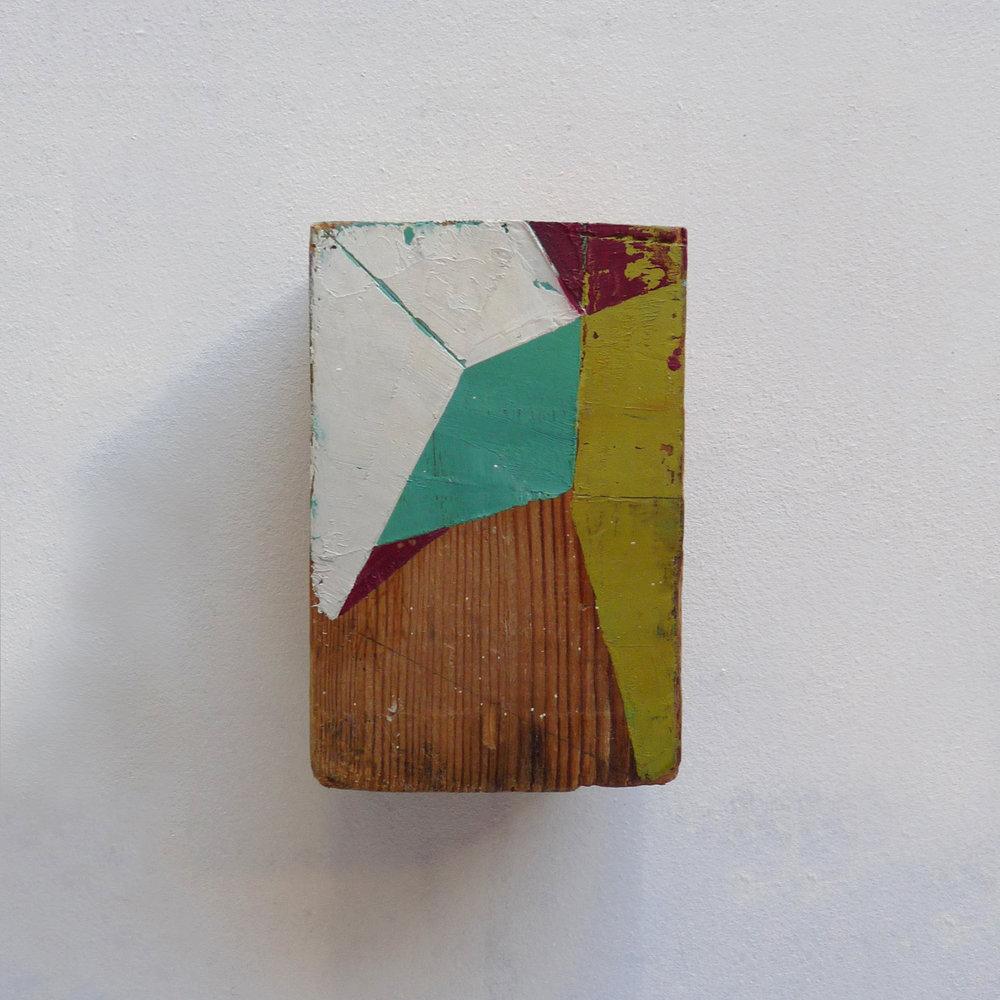 Taquiño B  Oil on wood 4 x 5.5 x 3 inches 9.5 x 14 x 7 cm 2018