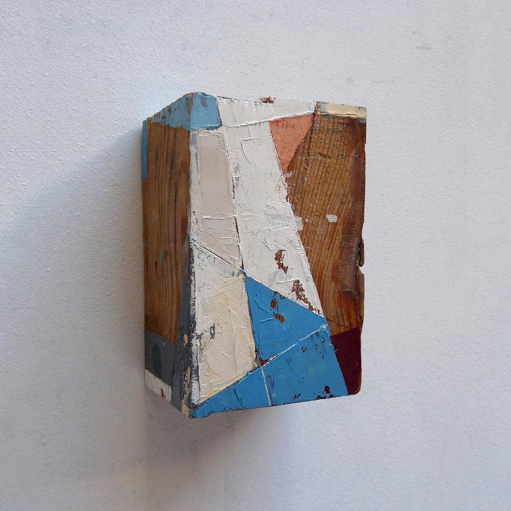Taquiño D  Oil on wood  4 x 6 x 3 inches 9.5 x 14.5 x 7 cm 2018