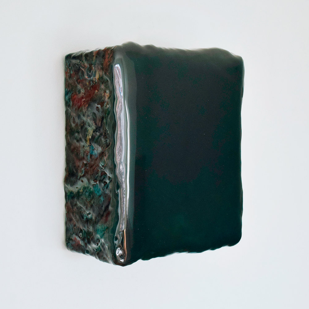 Lagoa Caiado  Pigments, plaster and epoxy on wood 11 x 10 x 4 inches 27 x 24.5 x 11 cm 2018