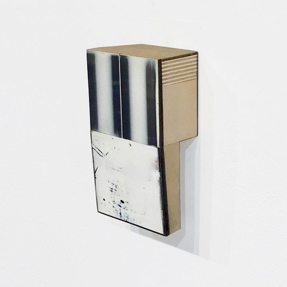Stout 20  Acrylic glaze, gesso, board, MDF, wood 5 x 3 x 1.63 inches 13 x 8 x 4 cm 2016