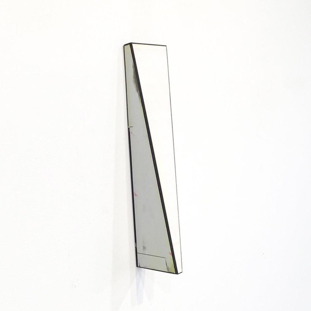 Twist 2  Acrylic glaze, board, wood 12.5 x 3 x 3 inches 32 x 8 x 8 cm 2015