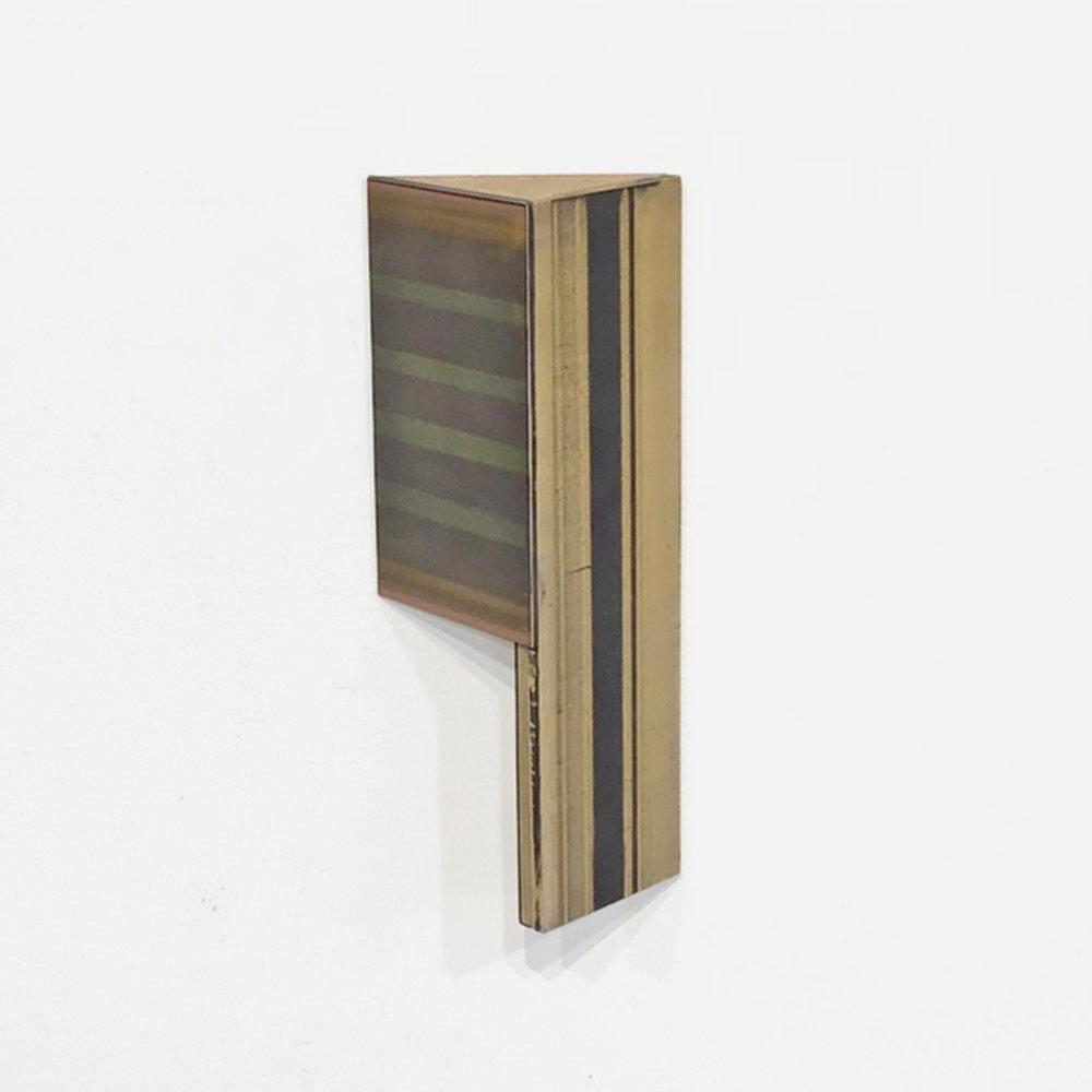 Untitled  Acrylic glaze, board, MDF, wood 10.13 x 4.25 x 2.25 inches 26 x 11 x 6 cm 2018