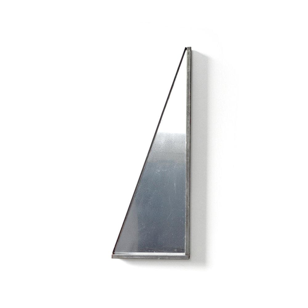 Void (Triangle)  Steel, plexi, epoxy, enamel, wood 9 x 24 x 1.25 inches 23 x 61 x 3 cm 2018