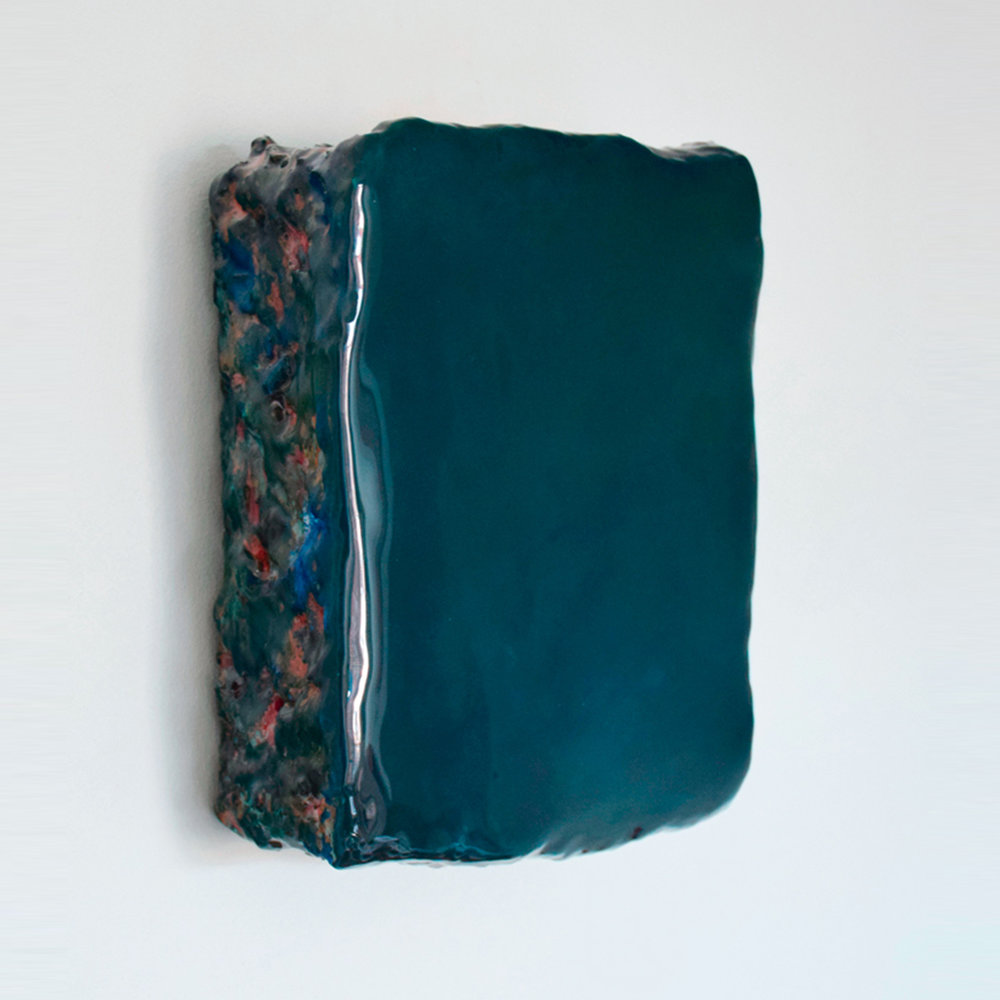 Astil  Pigments, plaster and epoxy on wood 8.6 x 10 x 3.3 inches 22 x 25 x 8.5 cm 2019