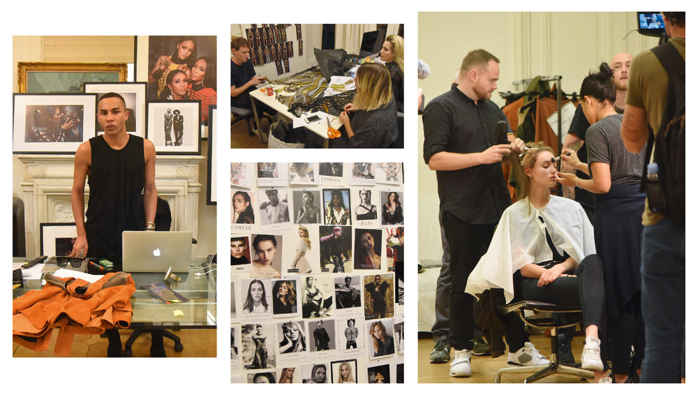 Olivier's twists Fittings and final adjustments on the eve of the show