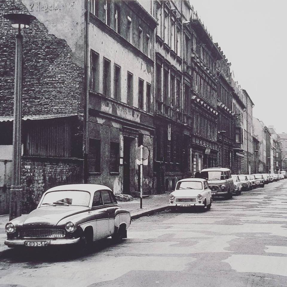 Closest building on the left is where the shop is now. Linienstrasse 150. That was 1982, former East Berlin. Picture by Udo Hesse, from his book 'Als noch Osten war'.