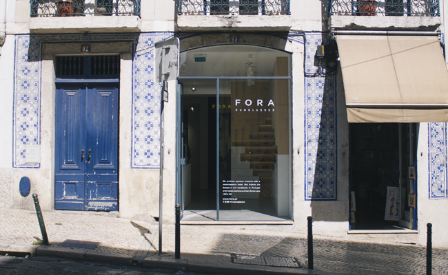 The second FORA SUNGLASSES store. Lisbon, rua da Misericordia 90