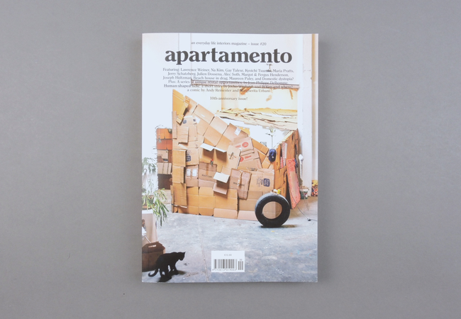 Apartamento  is widely recognized as today's most influential, inspiring, and honest interiors magazine. International, well designed, simply written, and tastefully curated since 2008, it is an indispensable resource for individuals who are passionate about the way they live. The publication is published biannually from its headquarters in Barcelona. It also has offices in Milan and New York City.  Provenance: Barcelona. Market price: 18 Euro