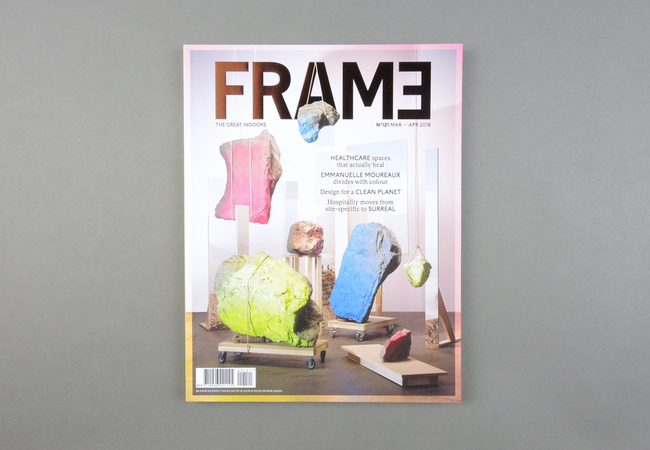 Frame  magazine is the world's leading interior-design publication. The bimonthly magazine is filled with inspiring projects and stunning photography from all sectors of the international interiors industry. Since 1997,  Frame  has remained faithful to its vision: putting interior design on the map as a creative profession that's on a par with product design and architecture.  Provenance: Amsterdam. Market price: 20 Euro