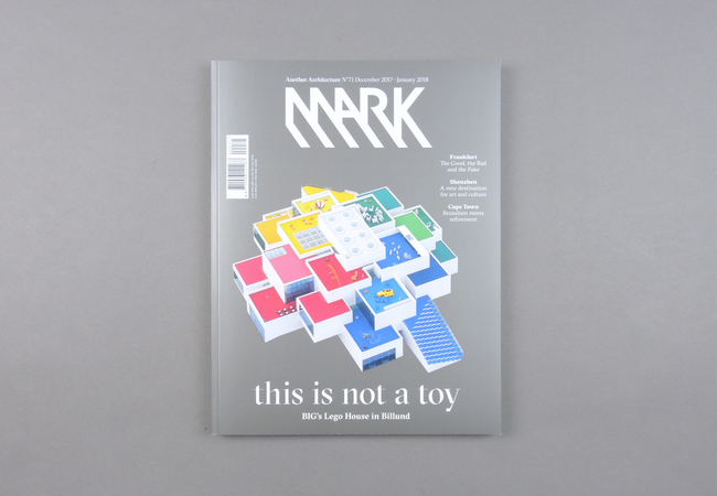 Mark  magazine is a platform for the practice and perception of architecture at the dawn of the third millennium. Since its launch in 2005, the magazine has proven to be a timely, visual, non-academic publication full of first-hand information from creative people.  Mark  has a radically international perspective, shining its spotlight on starchitects and new talent alike. The magazine explores the boundaries of architecture and anticipates the industry's future.  Provenance: Amsterdam. Market price: 20 Euro