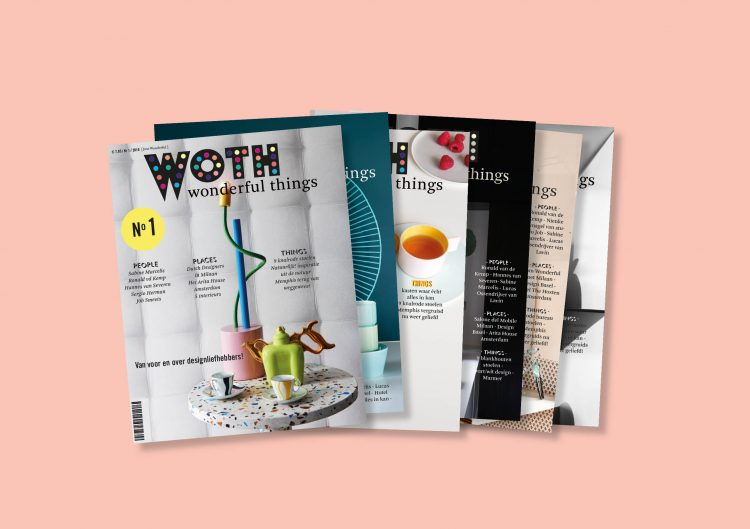 WOTH Wonderful Things Magazine is an enticingly new independent magazine on design, architecture, interior design, leisure, beauty, travel and food. The magazine is released in a Dutch and a separate English edition.  Provenance: Hague. Market price: 12 Euro