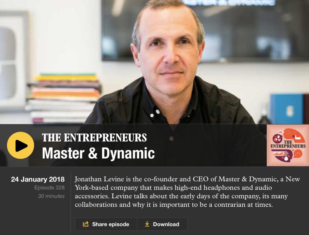 Master & Dynamic sound system
