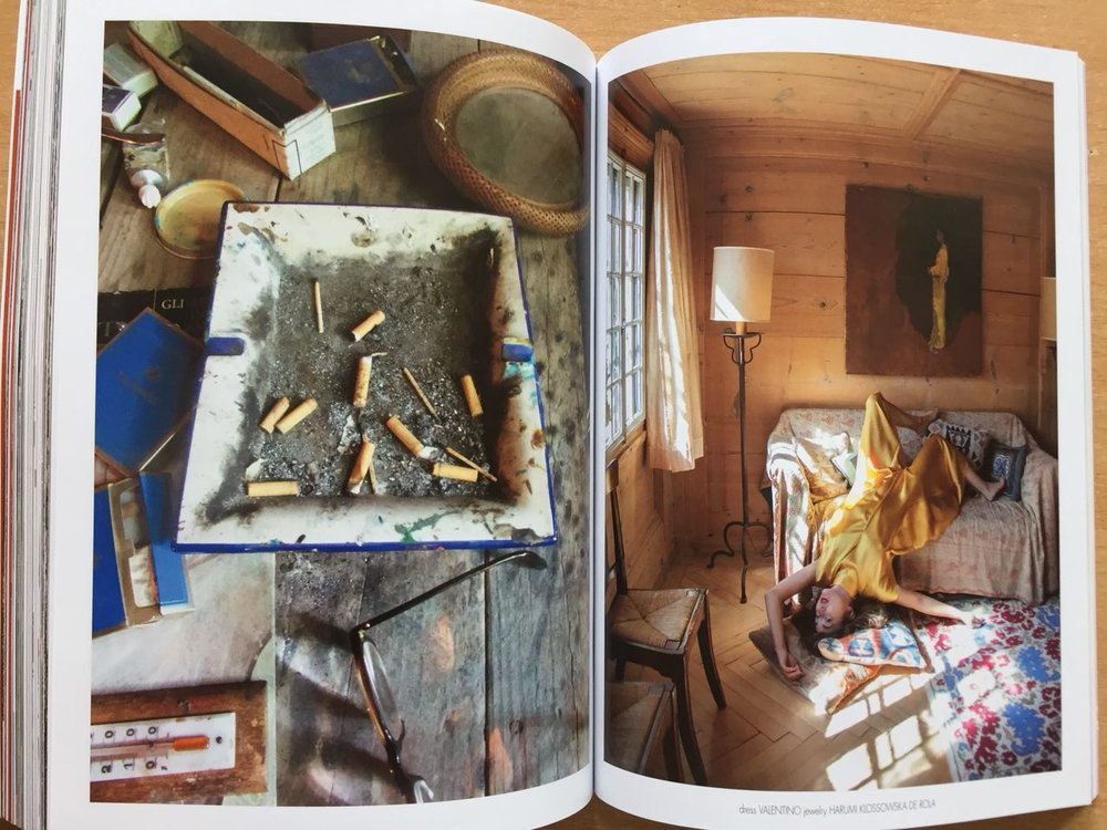 Pictures in painter's BALTHUS Chalet and Bowie's interview