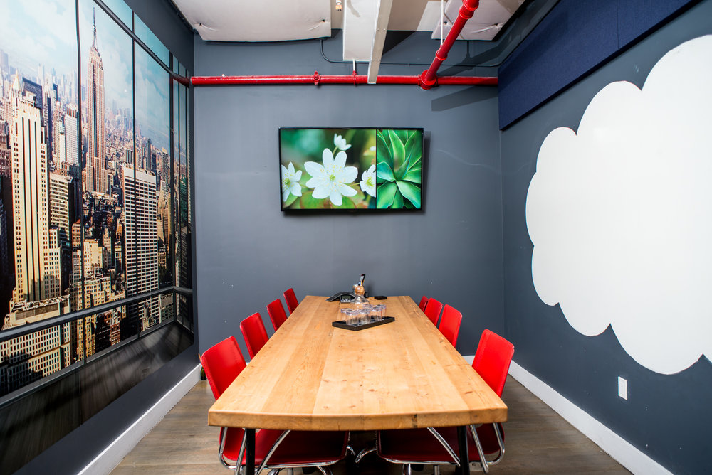This is one of the many beautiful conference rooms located in the  Flatiron district in NYC. This Bond Collective space offers beautiful affordable shared spaces, coworking space, conference space and private offices.   We also have locations in Gowanus, Brooklyn, and at 60 Broad and 55 Broadway in the Financial District.  Truly the best coworking option in all of Manhattan.