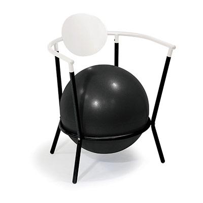 Time Concept Balance Arm Chair White