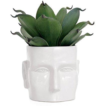 Torre & Tagus Face Vase, Large, White