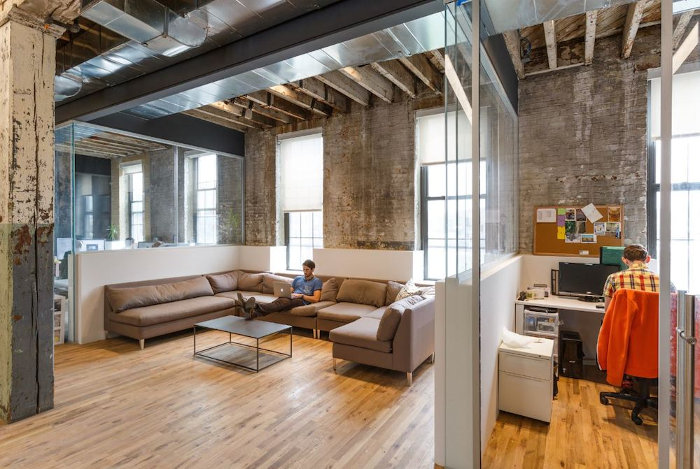 Windows and natural make the perfect office space. BOND Collective Gowanus office space.
