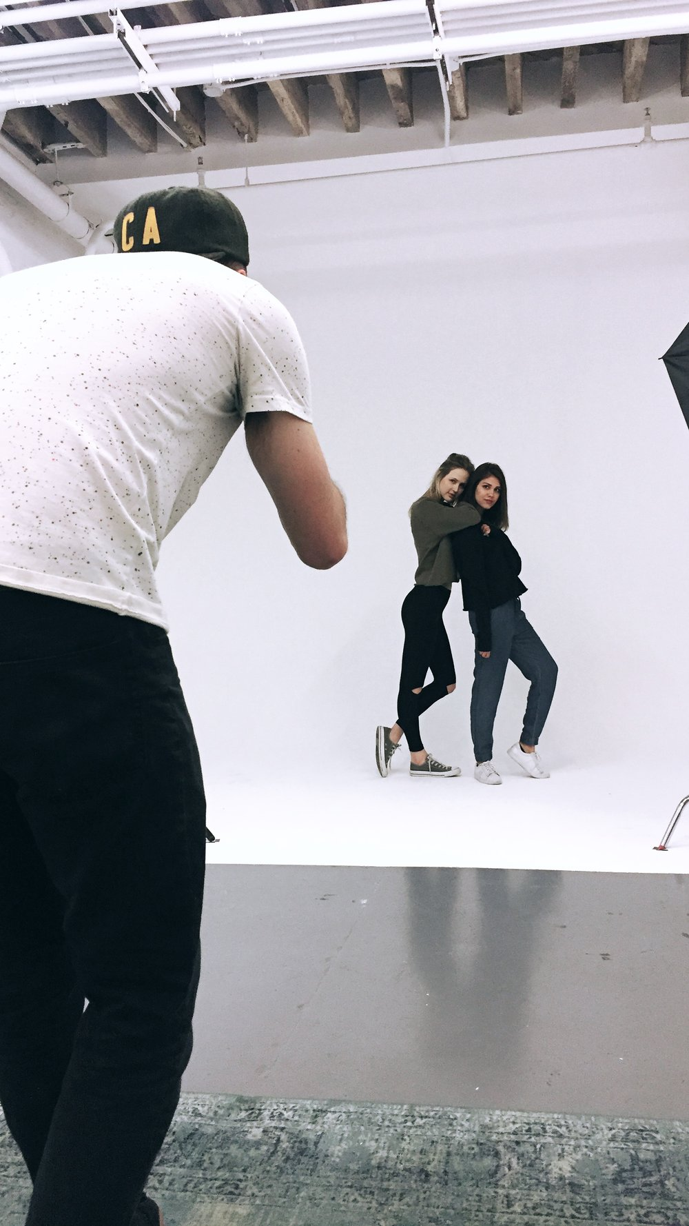 IMBY shooting their fall line in the Bond Gowanus Production Studio.