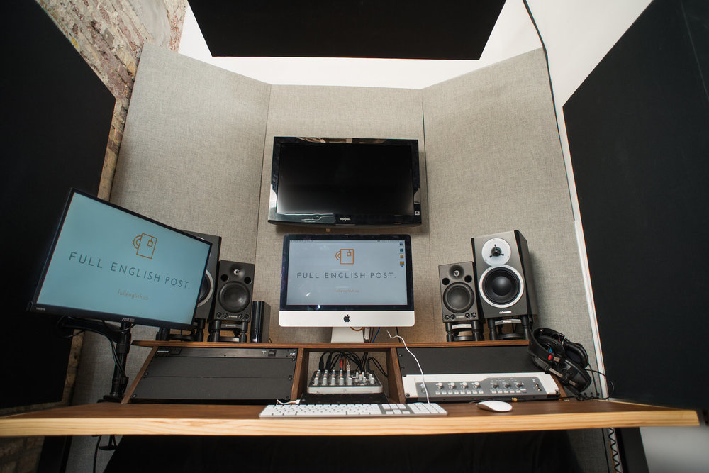 Bond Gowanus Member, Kieran from Full English Post set up a recording studio in his office.