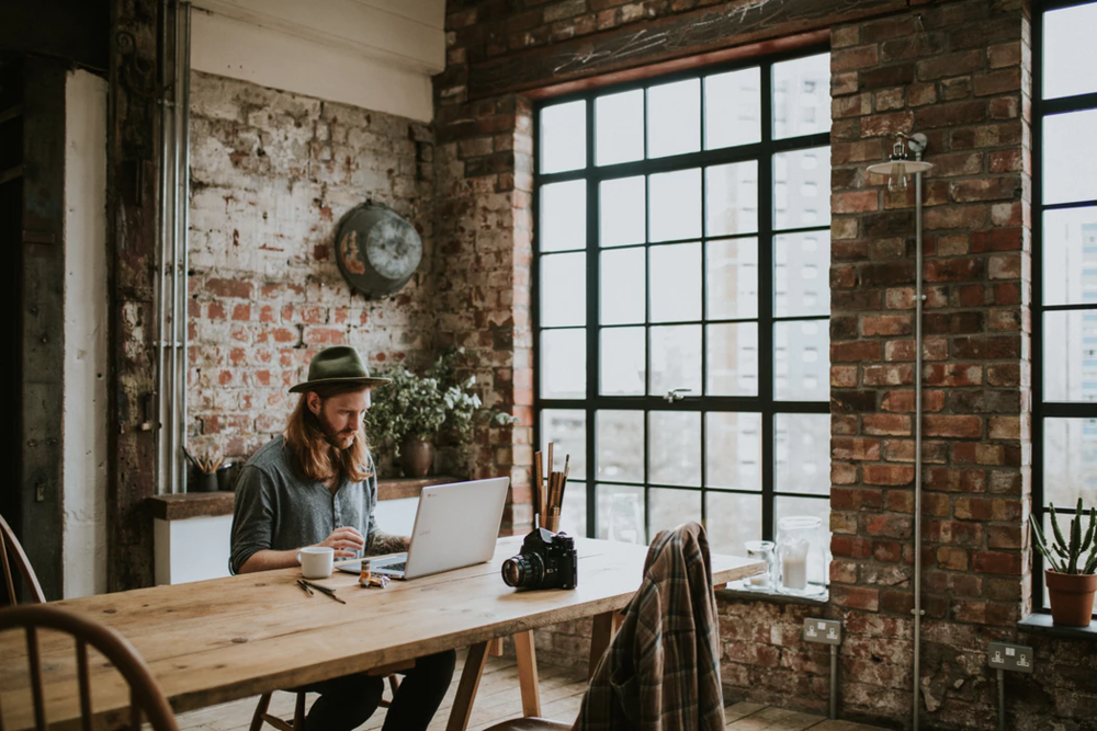 Digital Nomad in a workspace