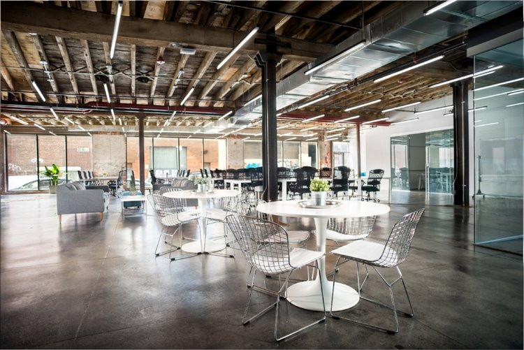 Startup coworking space interior