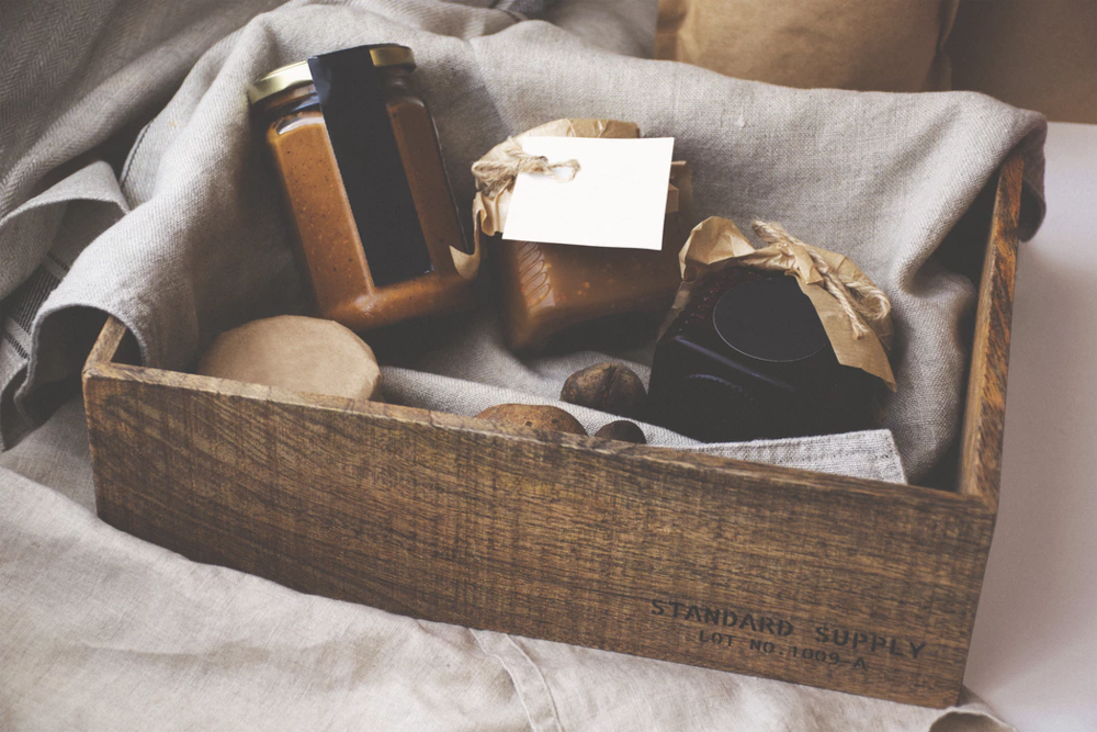rustic meal kit in box startup idea