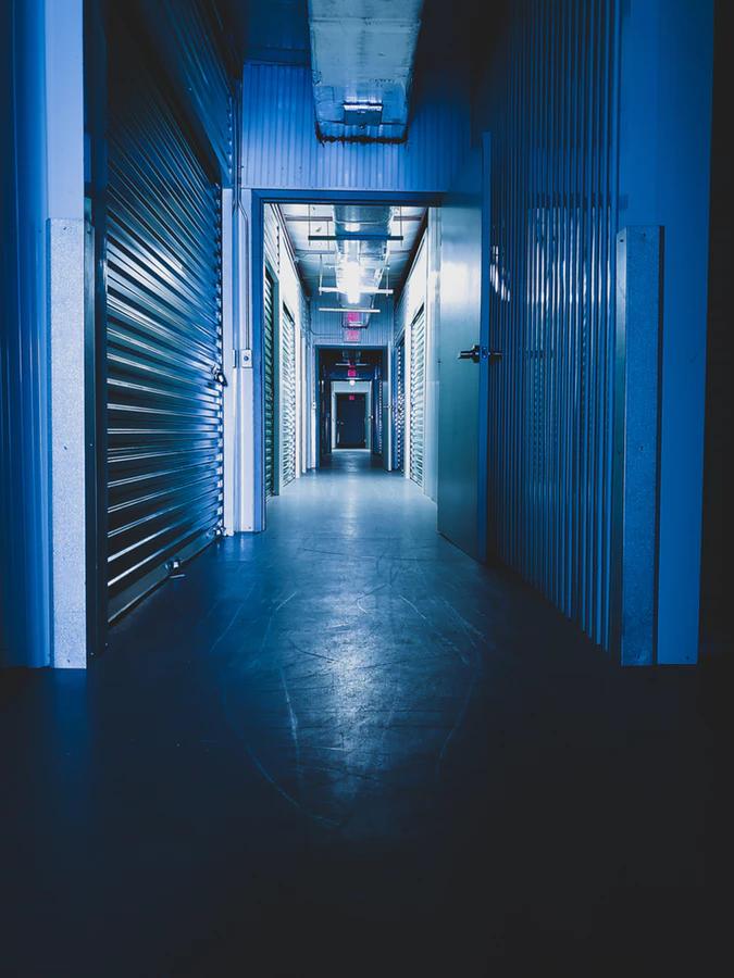 interior of self-storage building