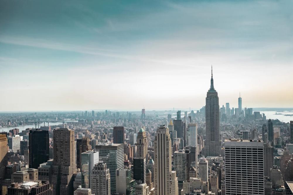 New York City skyline on a sunny day