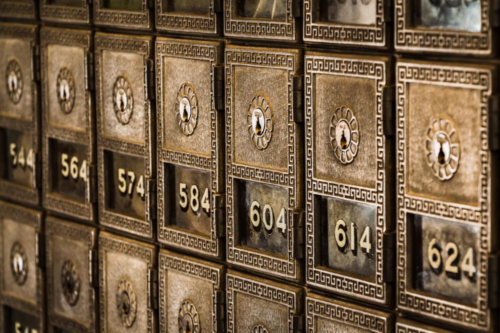 vintage brass mailboxes