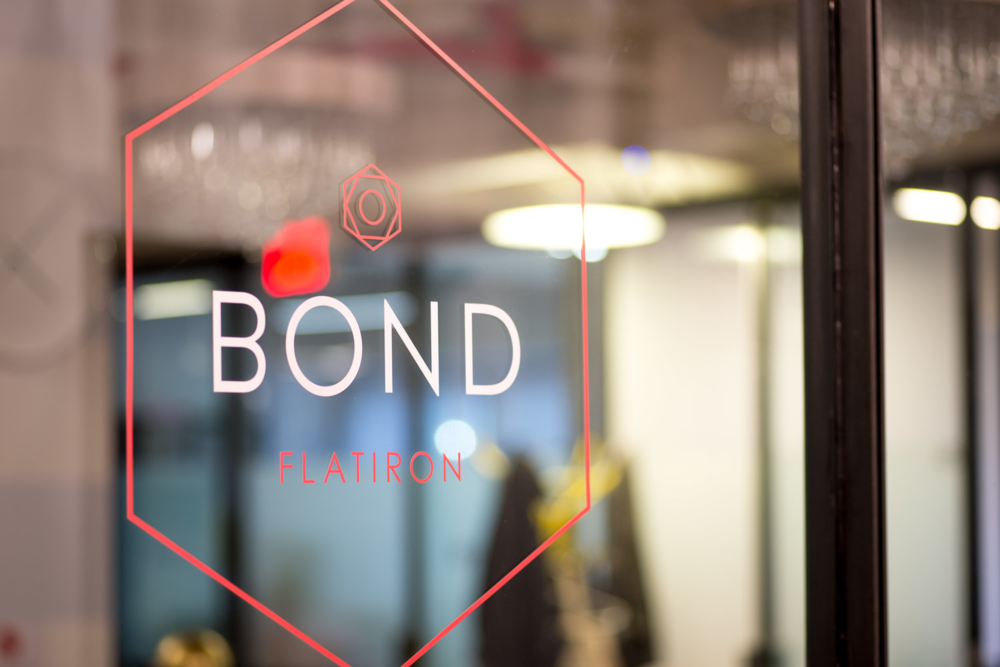 Bond Collective shared office space window and logo
