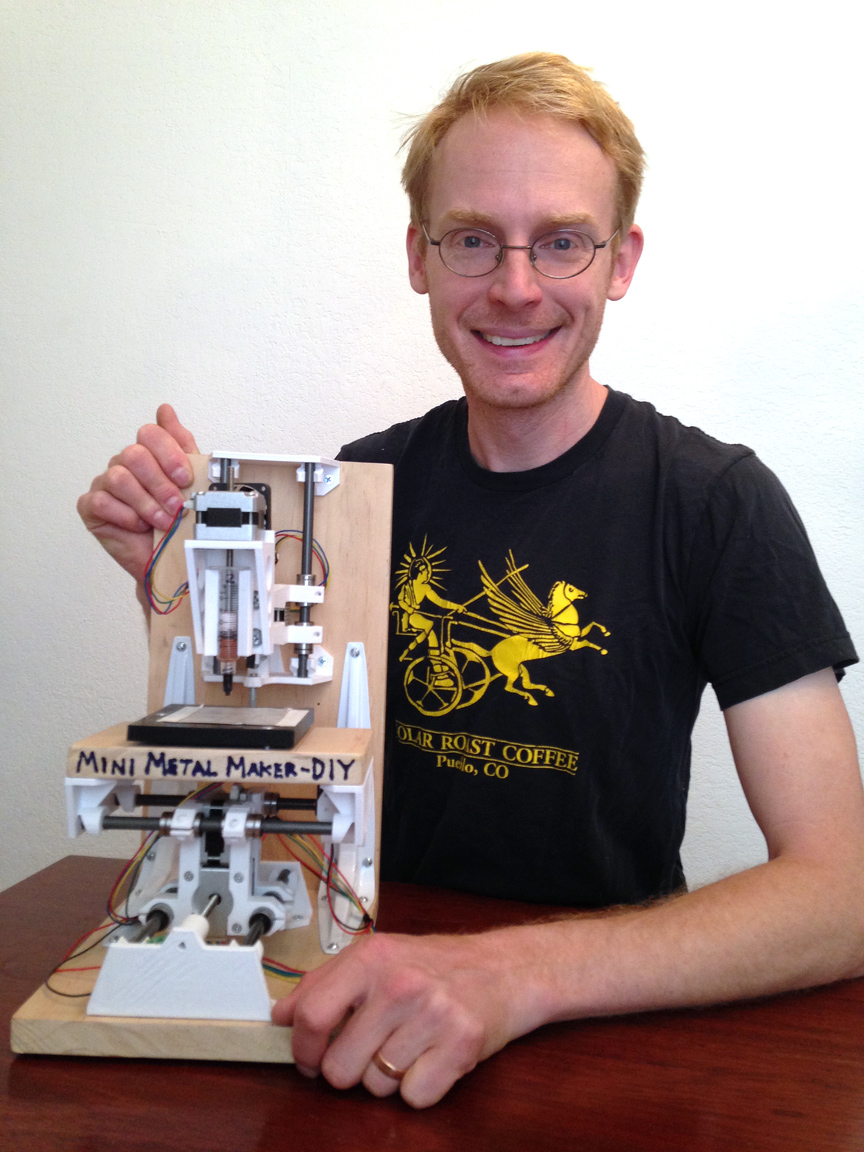 Author David Hartkop with a completed DIY Mini Metal Maker