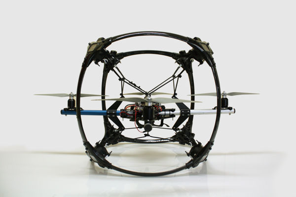 Espheric C8 holds eight gopro session cameras on a rigid frame around vibration-dampened airframe.