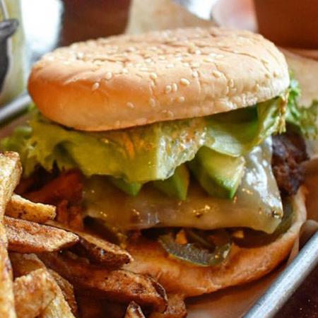 Wabash Cannonball 1/3 lb. Patty, Tillamook Pepper Jack, Pickled Jalapeños, Avocado Slices, Lettuce & Helldorado Sauce $8.5