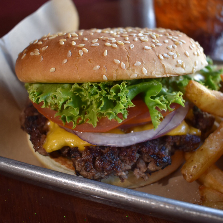 Wally Sr. 1/3 lb. Patty, American Cheese, Lettuce, Tomato, Onion, Pickles & Wally Sauce $7.5