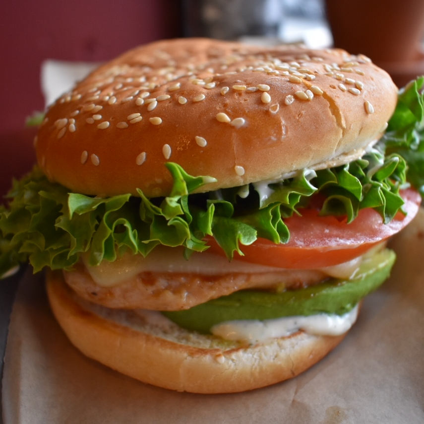 El Paso   Grilled Chicken Breast, Tillamook Pepper Jack, Avocado Slices, Lettuce, Tomato & Ranch  $8.75