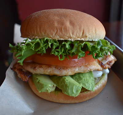 El Paso   Grilled Chicken Breast, Tillamook Pepper Jack, Avocado Slices, Lettuce, Tomato & Ranch  $9.25