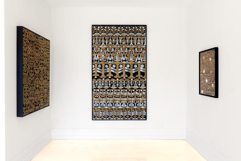Above: Installation view,  The GOLD Show , Brintz Galleries, Palm Beach, FL, 2016. © 2016 Brintz Galleries Archive