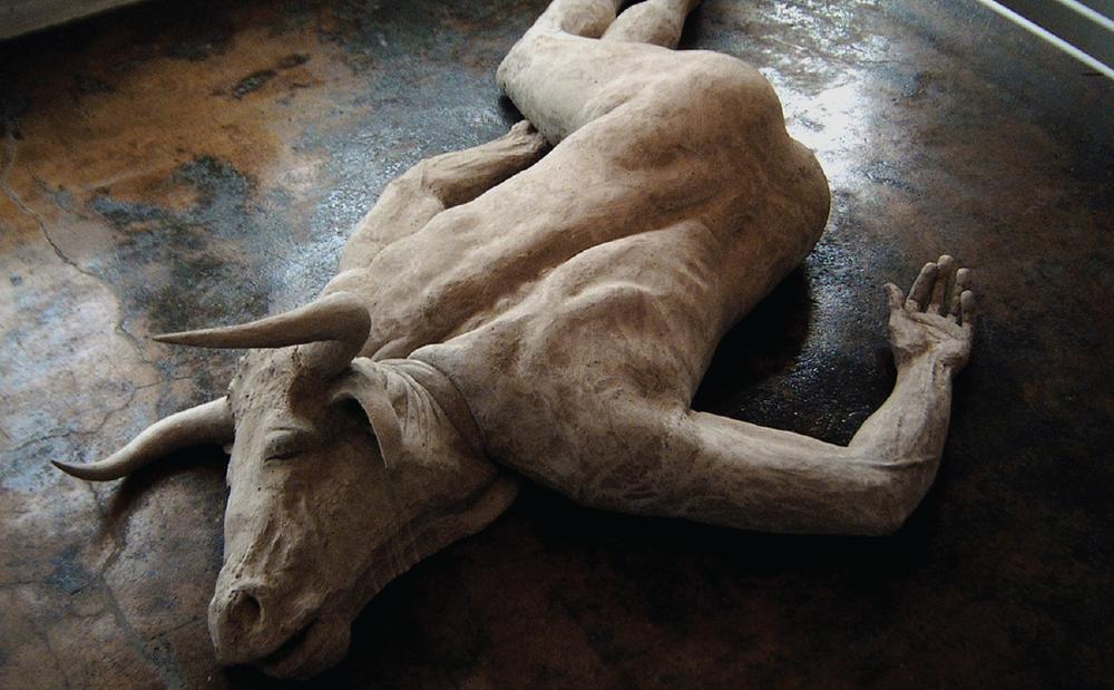 """Minotaur,"" Sculpture by Emil Alzamora"