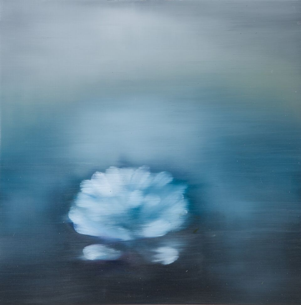 Ross Bleckner,  Untitled,  2018, 30 x 30 in