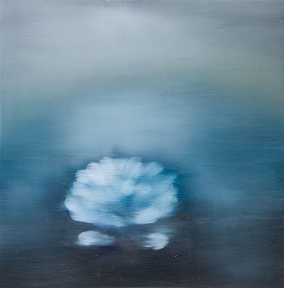 Ross Bleckner, Untitled,  2018,30 x 30 in