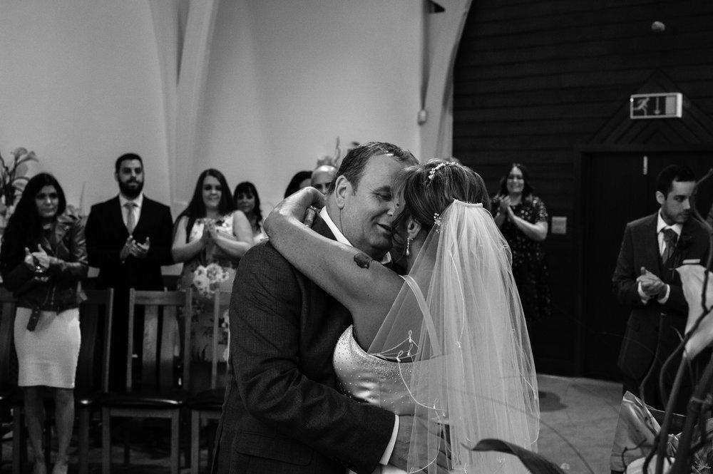 Karren & John Wedding Kiss