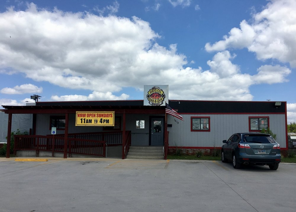 Hays Co. Bar-B-Que  - 1612 S Interstate 35San Marcos, TX 78666#8 on the TX BBQ PassportFourth stop