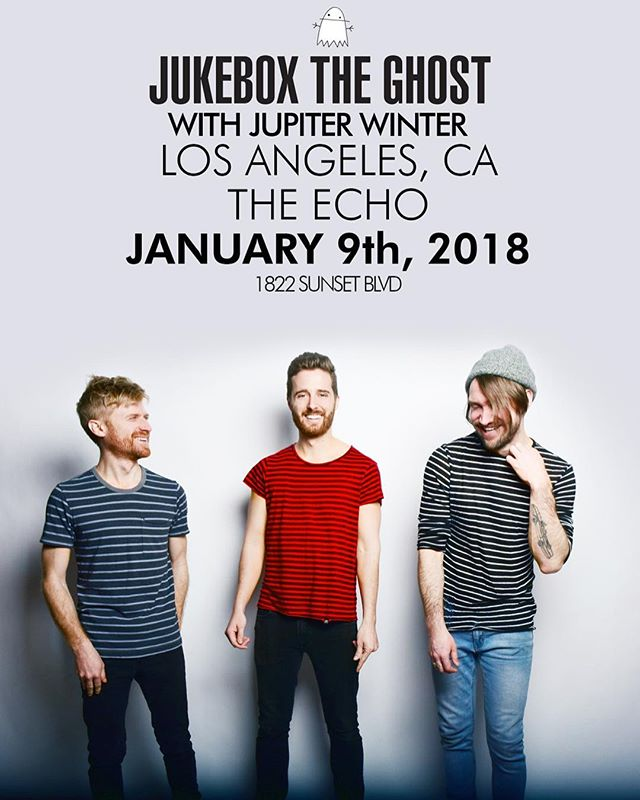 We're baaaaack! 🕺🏼So excited to join @jukeboxtheghost for their LA show January 9th at The Echo! Get your tickets ASAP because this show will sell out real quick! We love these guys endlessly, and this night is going to be such a blast. (Ticket link in profile)