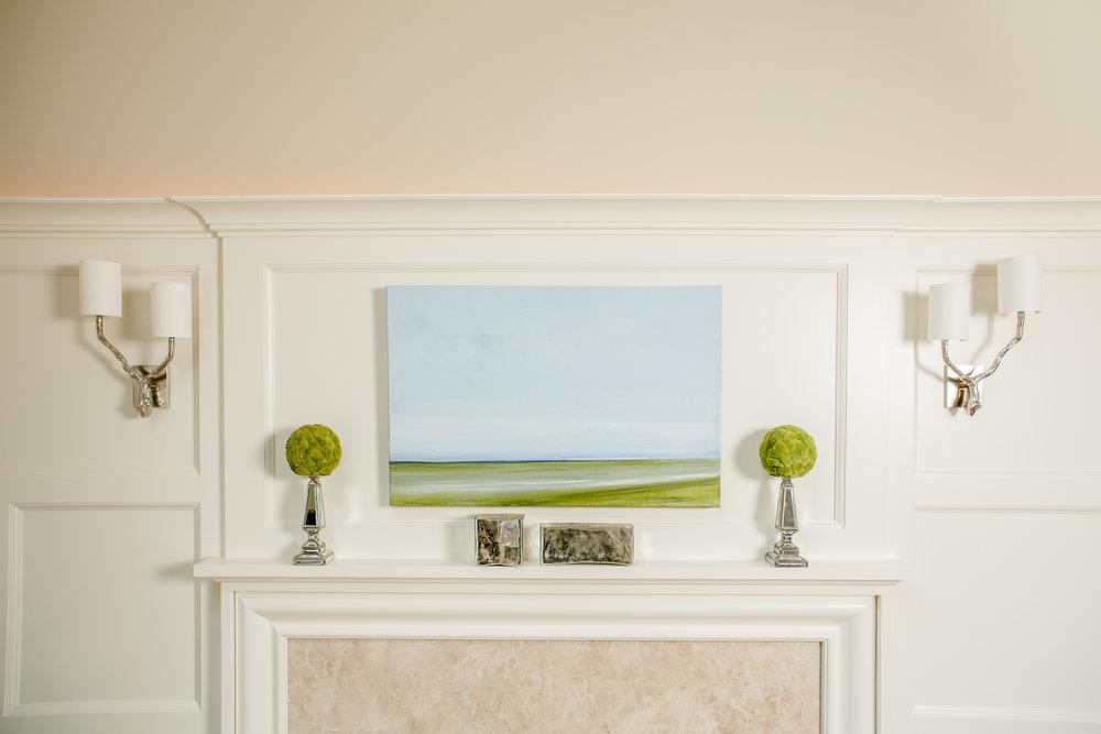 LIVING ROOM - ART ABOVE MANTLE